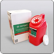 Two Gallon Slant Top Mail-Back Sharps Disposal System