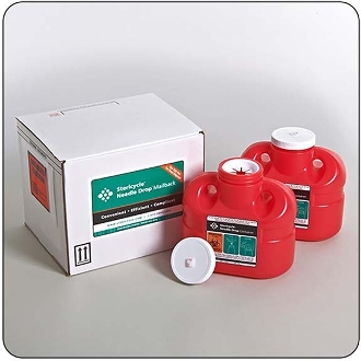 Two - 1 Gallon Mail-Back Sharps Disposal System