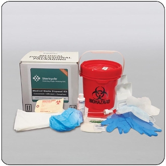 1 Gallon Medical Waste with Spill Kit Mail-Back Disposal System